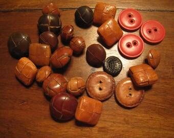 Vintage leather button vintage leather buttons