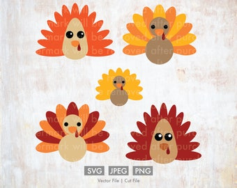 Thanksgiving Turkey Variations svg - Cut File/Vector, Silhouette, Cricut, SVG, PNG, JPEG, Clip Art, Download, Fall, Thanksgiving svg, Gobble