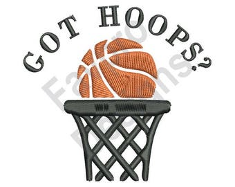 Basketball & Net - Machine Embroidery Design