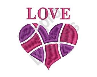 Love Heart - Machine Embroidery Design