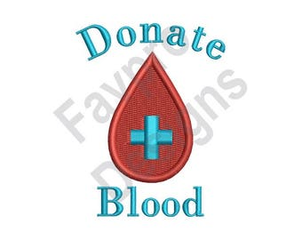 Donate Blood - Machine Embroidery Design