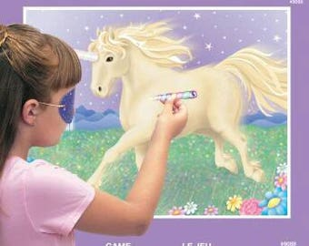 Unicorn Party Game, unicorn party, pin the horn on the unicorn, party game