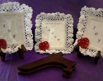 """Words In A Frame        3 3/4 """" L x  2 3/4""""  W"""