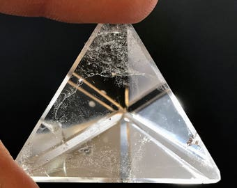 Quartz Prism Crystal ~ Sacred Geometry ~ Platonic Solids  ~ Quartz Shapes ~ Rocks and Minerals ~ 31g