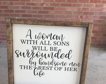 Hand made farmhouse inspired sign