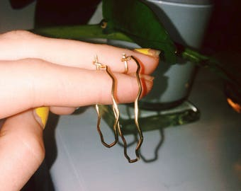 Wave Goodbye Gold Fill Earring