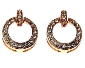 Swarovski Crystal Encrusted Earrings
