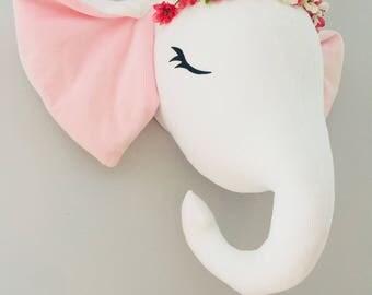 Baby girl elephant head