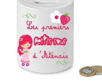 "Piggy bank ""the first change"" child - gift idea for her."