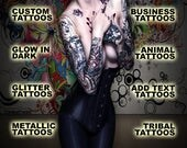 Custom Temporary Tattoo - Your logo or design