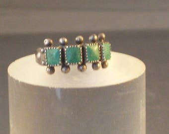 Turquoise Ring Marked Sterling Navajo Southwestern