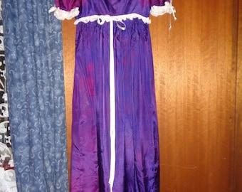 1950s Purple Empire Waist Dress