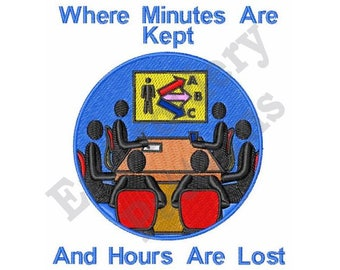 Minutes Are Kept - Machine Embroidery Design