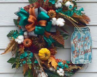 Best Fall Wreath-Fall Grapevine Wreath-Best Door Wreath-Best Autumn Wreath-Harvest Wreath-Thanksgiving Wreath-Front Door Wreath-Thanksgiving