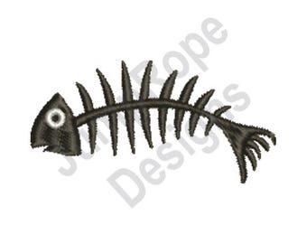 Fish Skeleton - Machine Embroidery Design