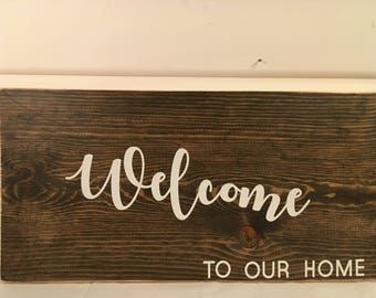 home decor, wooden sign, wall decor, custom wood sign, personalized wood sign, home interiors, handmade wood sign, welcome, home