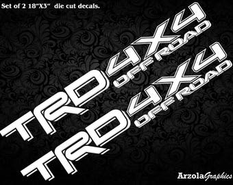Toyota TRD 4X4 off road decal / stickers WHITE
