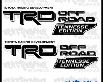 """Toyota Trd off road decal stickers TENNESSEE edition (2) 20""""x6"""" decals"""