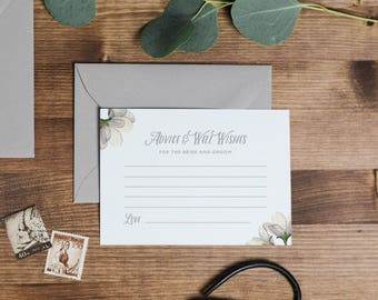 Advice For The Bride & Groom Cards, Wedding Advice Cards, Advice Card Template, Printable Advice Cards, Wedding Advice Template - KPC05_401