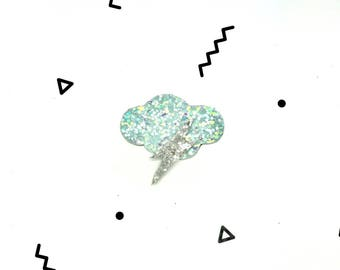 Hand Made sequin cloud brooch