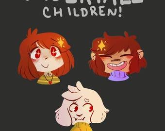 Undertale Children Pins