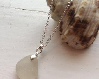 Seaglass necklace cornish seaglass
