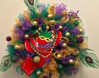 Mardi Gras Crawfish Wreath