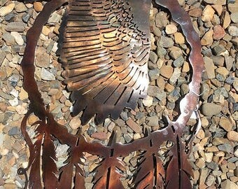 Eagle Dreamcatcher Metal Art