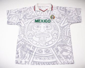 Vintage 90s Team Mexico Soccer Football Fan Jersey