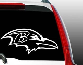 Ravens Sticker, Ravens Decal, Baltimore Ravens Sticker, Football Sticker, Football Decal, Window Decal, Laptop Decal, Phone Decal