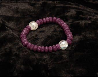 Purple sparkle bracelet