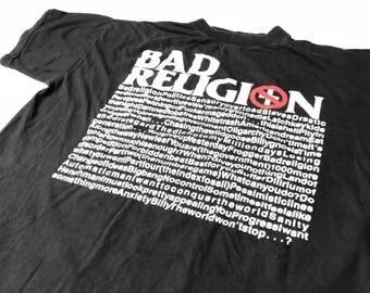 Bad Religion - Rare Original Vintage t-shirt