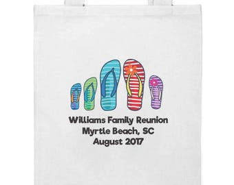 Beach Summer Flip Flops | Family Reunion Gift Tote Bag | FREE SHIPPING