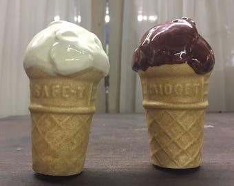 Ice Cream Cones Salt and Pepper Shakers
