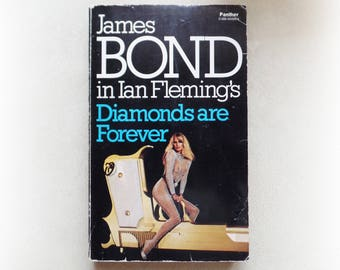 Ian Fleming - Diamonds are Forever - James Bond - Panther vintage paperback book - 1978