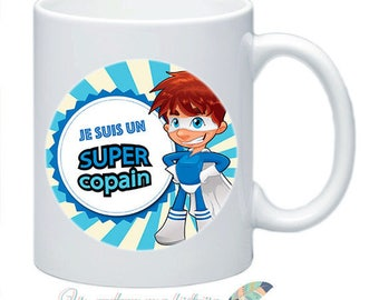 Mug Super buddy idea cadeau_illustration double sided #1
