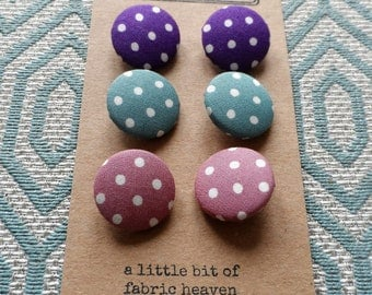 Spotty Fabric Covered Buttons