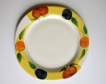 Vintage serving plate-ceramic serving plate-handpainted-made in italy-san marciano ceramics-servingware-ceramic-italy-plate-tray-