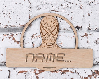 Spiderman Personalised Door Sign, Spiderman Sign, Spiderweb, Spiderman Logo, Personalised Door Plaque, Room Name Sign