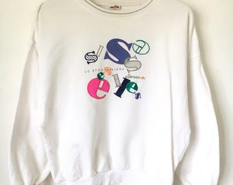 Retro Ellesse sweatshirt, size L