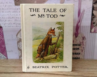 The Tale Of Mr Tod By Beatrix Potter (Frederick Warne) Hardback, Small Book