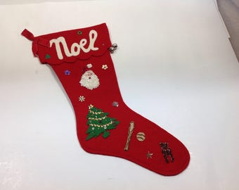 Vintage Christmas Felt Stockings Lot