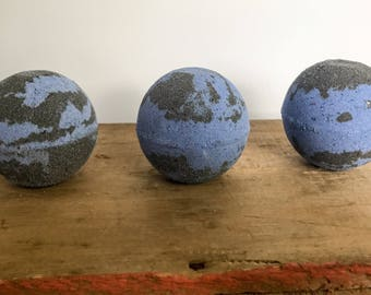 Black and Blue Bath Bomb, Fizzie, Fizzy, Stormy Nights, Black Bath, Party Favor, Gifts For Her, Under 10, Spa, Fall Bath