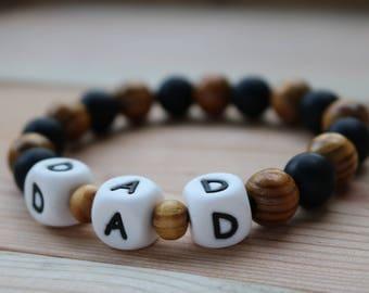 Dad's bracelet, teething bracelet, babyproof jewellery