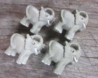 Elephant button // Animal buttons // Shank buttons