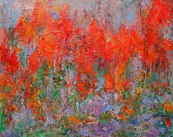Original Oil Painting, Wildfire