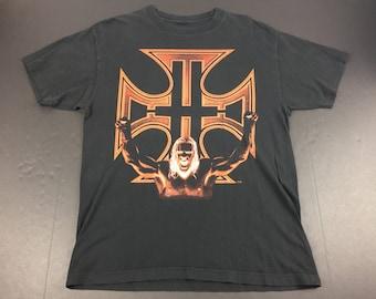 Vintage 90s HHH the game wwf t-shirt mens M wwe triple H wrestling
