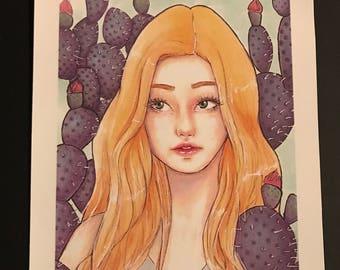 """Small art print """"Rita"""""""