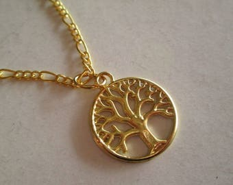 Tree of life, golden, bronze, silver, Jewelry , necklace, Pendant, 2 cm.   handmade, spain, gift, mother, christmas, valentine