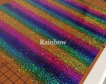 Holographic Rainbow-Round Rainbow- Heat Transfer Vinyl- Tshirt Vinyl-DIY T-Shirt